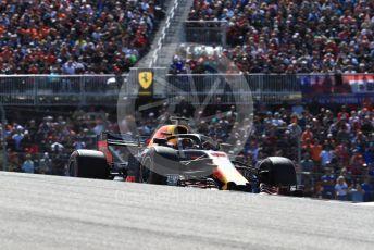 World © Octane Photographic Ltd. Formula 1 – United States GP - Race. Aston Martin Red Bull Racing TAG Heuer RB14 – Daniel Ricciardo. Circuit of the Americas (COTA), USA. Sunday 21st October 2018.