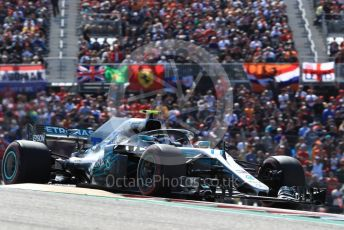 World © Octane Photographic Ltd. Formula 1 – United States GP - Race. Mercedes AMG Petronas Motorsport AMG F1 W09 EQ Power+ - Valtteri Bottas. Circuit of the Americas (COTA), USA. Sunday 21st October 2018.