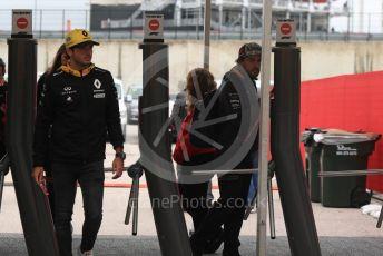 World © Octane Photographic Ltd. Formula 1 – United States GP - Paddock. Renault Sport F1 Team RS18 – Carlos Sainz. Circuit of the Americas (COTA), USA. Saturday 20th October 2018.