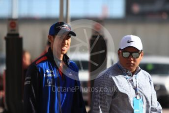 World © Octane Photographic Ltd. Formula 1 – United States GP - Paddock. Scuderia Toro Rosso - Sean Gelael. Circuit of the Americas (COTA), USA. Sunday 21st October 2018.