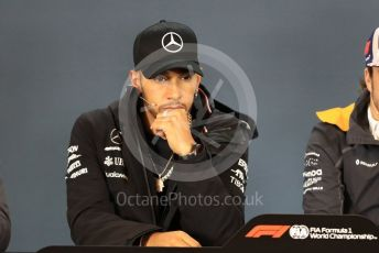 World © Octane Photographic Ltd. Formula 1 – United States GP - FIA Drivers' Press Conference. Mercedes AMG Petronas Motorsport - Lewis Hamilton. Circuit of the Americas (COTA), USA. Thursday 18th October 2018.