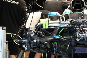 World © Octane Photographic Ltd. Formula 1 – United States GP – Pit Lane. Mercedes AMG Petronas Motorsport AMG F1 W09 EQ Power+. Circuit of the Americas (COTA), USA. Thursday 18th October 2018.