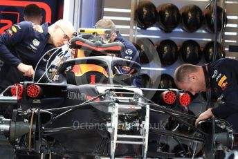 World © Octane Photographic Ltd. Formula 1 – United States GP - Pit Lane. Aston Martin Red Bull Racing TAG Heuer RB14. Circuit of the Americas (COTA), USA. Thursday 18th October 2018.