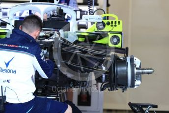 World © Octane Photographic Ltd. Formula 1 – United States GP - Pit Lane. Williams Martini Racing FW41. Circuit of the Americas (COTA), USA. Thursday 18th October 2018.