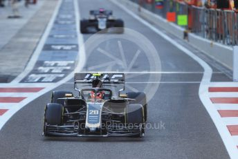 World © Octane Photographic Ltd. Formula 1 – Abu Dhabi GP - Practice 1. Haas F1 Team VF19 – Kevin Magnussen and Romain Grosjean. Yas Marina Circuit, Abu Dhabi, UAE. Friday 29th November 2019.