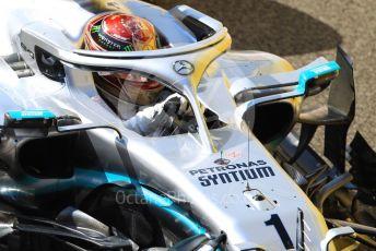 World © Octane Photographic Ltd. Formula 1 – Abu Dhabi GP - Practice 1. Mercedes AMG Petronas Motorsport AMG F1 W10 EQ Power+ - Lewis Hamilton. Yas Marina Circuit, Abu Dhabi, UAE. Friday 29th November 2019.