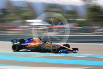 World © Octane Photographic Ltd. Formula 1 – Abu Dhabi GP - Practice 1. McLaren MCL34 – Carlos Sainz. Yas Marina Circuit, Abu Dhabi, UAE. Friday 29th November 2019.