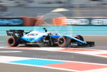 World © Octane Photographic Ltd. Formula 1 – Abu Dhabi GP - Practice 1. ROKiT Williams Racing FW42 – Robert Kubica. Yas Marina Circuit, Abu Dhabi, UAE. Friday 29th November 2019.