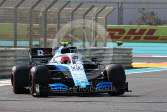 World © Octane Photographic Ltd. Formula 1 – Abu Dhabi GP - Practice 1. ROKiT Williams Racing FW42 – Robert Kubica. Yas Marina Circuit, Abu Dhabi, UAE. Friday 29th November 2019.