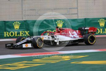 World © Octane Photographic Ltd. Formula 1 – Abu Dhabi GP - Practice 2. Alfa Romeo Racing C38 – Kimi Raikkonen. Yas Marina Circuit, Abu Dhabi, UAE. Friday 29th November 2019.