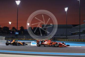 World © Octane Photographic Ltd. Formula 1 – Abu Dhabi GP - Practice 2. Scuderia Ferrari SF90 – Sebastian Vettel McLaren MCL34 – Lando Norris. Yas Marina Circuit, Abu Dhabi, UAE. Friday 29th November 2019.