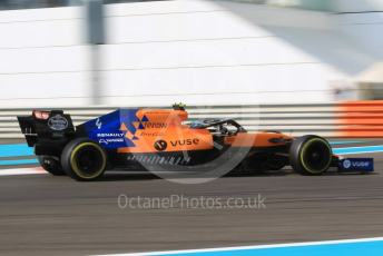 World © Octane Photographic Ltd. Formula 1 – Abu Dhabi GP - Practice 3. McLaren MCL34 – Lando Norris. Yas Marina Circuit, Abu Dhabi, UAE. Saturday 30th November 2019.