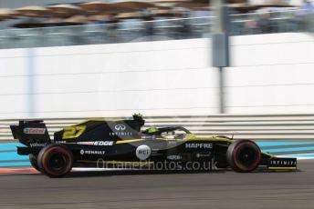 World © Octane Photographic Ltd. Formula 1 – Abu Dhabi GP - Practice 3. Renault Sport F1 Team RS19 – Nico Hulkenberg. Yas Marina Circuit, Abu Dhabi, UAE. Saturday 30th November 2019.