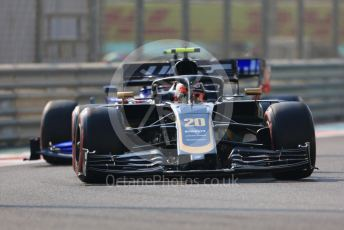 World © Octane Photographic Ltd. Formula 1 – Abu Dhabi GP - Practice 3. Haas F1 Team VF19 – Kevin Magnussen and Scuderia Toro Rosso STR14 – Pierre Gasly. Yas Marina Circuit, Abu Dhabi, UAE. Saturday 30th November 2019.