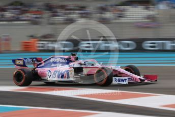 World © Octane Photographic Ltd. Formula 1 – Abu Dhabi GP - Qualifying. SportPesa Racing Point RP19 - Sergio Perez. Yas Marina Circuit, Abu Dhabi, UAE. Saturday 30th November 2019.