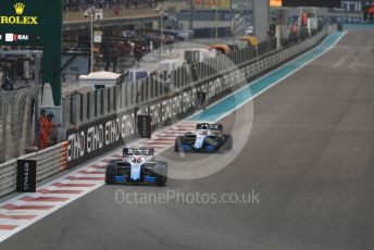 World © Octane Photographic Ltd. Formula 1 – Abu Dhabi GP - Race. ROKiT Williams Racing FW42 – Robert Kubica ahead of George Russell. Yas Marina Circuit, Abu Dhabi, UAE. Sunday 1st December 2019.