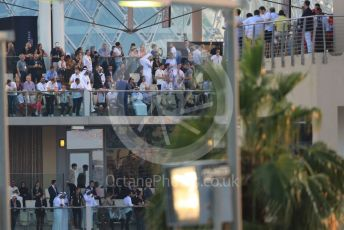 World © Octane Photographic Ltd. Formula 1 - Abu Dhabi GP - Race. Crowds in Paddock Club. Yas Marina Circuit, Abu Dhabi, UAE. Sunday 1st December 2019.
