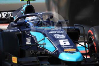 World © Octane Photographic Ltd. FIA Formula 2 (F2) – Abu Dhabi GP - Practice. DAMS - Nicholas Latifi. Yas Marina Circuit, Abu Dhabi, UAE. Friday 29th November 2019.