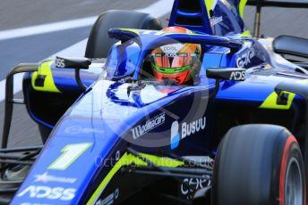 World © Octane Photographic Ltd. FIA Formula 2 (F2) – Abu Dhabi GP - Practice. Carlin - Louis Deletraz. Yas Marina Circuit, Abu Dhabi, UAE. Friday 29th November 2019
