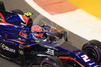 World © Octane Photographic Ltd. FIA Formula 2 (F2) – Abu Dhabi GP - Qualifying. Carlin - Nobuharu Matsushita. Yas Marina Circuit, Abu Dhabi, UAE. Friday 29th November 2019.