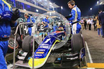 World © Octane Photographic Ltd. FIA Formula 2 (F2) – Abu Dhabi GP - Race 1. Carlin - Louis Deletraz. Yas Marina Circuit, Abu Dhabi, UAE. Saturday 30th November 2019