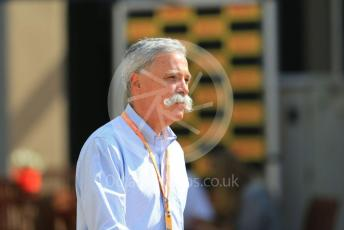 World © Octane Photographic Ltd. Formula 1 - Abu Dhabi GP - Paddock. Chase Carey - Chief Executive Officer of the Formula One Group. Yas Marina Circuit, Abu Dhabi, UAE. Saturday 30th November 2019.