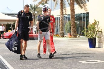 World © Octane Photographic Ltd. Formula 1 – Abu Dhabi GP - Paddock. Aston Martin Red Bull Racing RB15 – Max Verstappen. Yas Marina Circuit, Abu Dhabi, UAE. Sunday 1st December 2019.