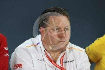 World © Octane Photographic Ltd. Formula 1 - Abu Dhabi GP – Friday FIA Team Press Conference. Zak Brown - Executive Director of McLaren Technology Group. Yas Marina Circuit, Abu Dhabi, UAE. Friday 29th November 2019.