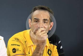 World © Octane Photographic Ltd. Formula 1 - Abu Dhabi GP – Friday FIA Team Press Conference. Cyril Abiteboul - Managing Director of Renault Sport Racing Formula 1 Team. Yas Marina Circuit, Abu Dhabi, UAE. Friday 29th November 2019.