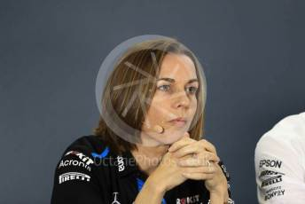 World © Octane Photographic Ltd. Formula 1 - Abu Dhabi GP – Friday FIA Team Press Conference. Claire Williams - Deputy Team Principal of ROKiT Williams Racing. Yas Marina Circuit, Abu Dhabi, UAE. Friday 29th November 2019.