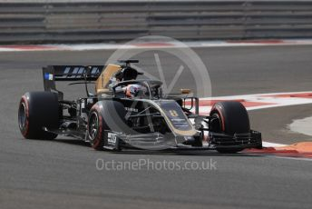 World © Octane Photographic Ltd. Formula 1 – Abu Dhabi Pirelli Tyre Test. Haas F1 Team VF19 – Roman Grosjean. Yas Marina Circuit, Abu Dhabi, UAE. Tuesday 3rd December 2019.