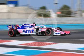 World © Octane Photographic Ltd. Formula 1 – Abu Dhabi Pirelli Tyre Test. SportPesa Racing Point RP19 - Sergio Perez. Yas Marina Circuit, Abu Dhabi, UAE. Tuesday 3rd December 2019.