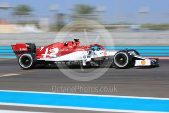 World © Octane Photographic Ltd. Formula 1 – Abu Dhabi Pirelli Tyre Test. Alfa Romeo Racing C38 – Kimi Raikkonen. Yas Marina Circuit, Abu Dhabi, UAE. Tuesday 3rd December 2019.