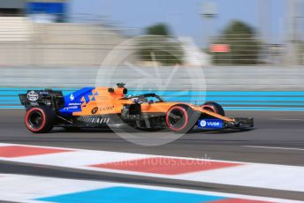 World © Octane Photographic Ltd. Formula 1 – Abu Dhabi Pirelli Tyre Test. McLaren MCL34 – Lando Norris. Yas Marina Circuit, Abu Dhabi, UAE. Tuesday 3rd December 2019.