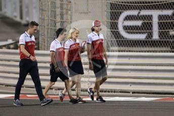 World © Octane Photographic Ltd. Formula 1 – Abu Dhabi GP - Track Walk. Alfa Romeo Racing C38 – Antonio Giovinazzi. Yas Marina Circuit, Abu Dhabi, UAE. Thursday 28th November 2019.