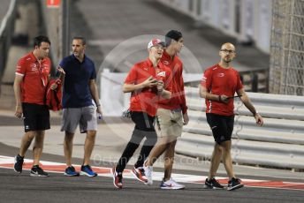 World © Octane Photographic Ltd. Formula 1 – Abu Dhabi GP - Track Walk. Prema Powerteam - Mick Schumacher and Sean Galeal. Yas Marina Circuit, Abu Dhabi, UAE. Thursday 28th November 2019.