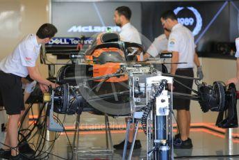 World © Octane Photographic Ltd. Formula 1 – Abu Dhabi GP - Setup. McLaren MCL34. Yas Marina Circuit, Abu Dhabi, UAE. Thursday 28th November 2019.