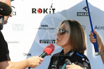 World © Octane Photographic Ltd. Formula 1 - Abu Dhabi GP - Paddock. Claire Williams - Deputy Team Principal of ROKiT Williams Racing. Yas Marina Circuit, Abu Dhabi, UAE. Thursday 28th November 2019.