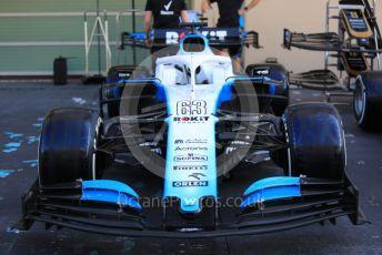 World © Octane Photographic Ltd. Formula 1 – Abu Dhabi GP - Scrutineering. ROKiT Williams Racing FW 42 – George Russell. Yas Marina Circuit, Abu Dhabi, UAE. Thursday 28th November 2019.