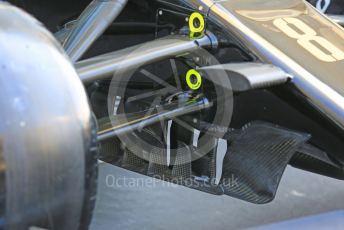 World © Octane Photographic Ltd. Formula 1 – Abu Dhabi GP - Scrutineering. Haas F1 Team VF19 – Romain Grosjean. Yas Marina Circuit, Abu Dhabi, UAE. Thursday 28th November 2019.
