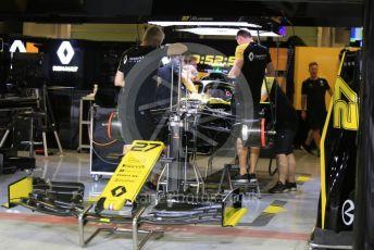 World © Octane Photographic Ltd. Formula 1 – Abu Dhabi GP - Pitlane. Renault Sport F1 Team RS19 – Nico Hulkenberg. Yas Marina Circuit, Abu Dhabi, UAE. Thursday 28th November 2019.