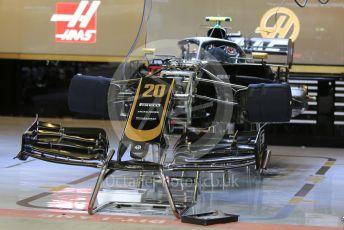 World © Octane Photographic Ltd. Formula 1 – Abu Dhabi GP - Pitlane. Haas F1 Team VF19 – Kevin Magnussen. Yas Marina Circuit, Abu Dhabi, UAE. Thursday 28th November 2019.
