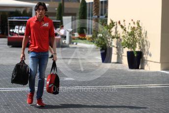 World © Octane Photographic Ltd. Formula 1 - Abu Dhabi GP - Paddock. Giuliano Alesi - Ferrari Driver Academy. Yas Marina Circuit, Abu Dhabi, UAE. Thursday 28th November 2019.