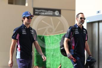 World © Octane Photographic Ltd. Formula 1 – Abu Dhabi GP - Paddock. SportPesa Racing Point RP19 – Lance Stroll. Yas Marina Circuit, Abu Dhabi, UAE. Thursday 28th November 2019.