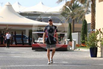 World © Octane Photographic Ltd. Formula 1 – Abu Dhabi GP - Paddock. SportPesa Racing Point RP19 - Sergio Perez. Yas Marina Circuit, Abu Dhabi, UAE. Thursday 28th November 2019.