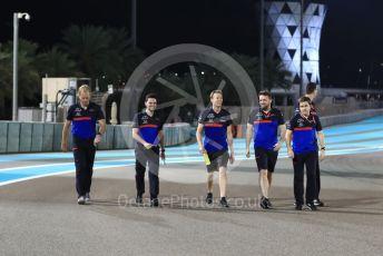 World © Octane Photographic Ltd. Formula 1 – Abu Dhabi GP - Track Walk. Scuderia Toro Rosso STR14 – Daniil Kvyat. Yas Marina Circuit, Abu Dhabi, UAE. Thursday 28th November 2019.