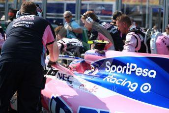 World © Octane Photographic Ltd. Formula 1 – Australian GP Grid. SportPesa Racing Point RP19 – Lance Stroll. Melbourne, Australia. Sunday 17th March 2019.