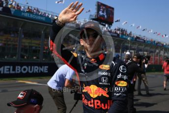 World © Octane Photographic Ltd. Formula 1 – Australian GP Drivers' parade. Aston Martin Red Bull Racing RB15 – Pierre Gasly. Melbourne, Australia. Sunday 17th March 2019.
