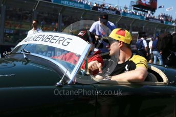 World © Octane Photographic Ltd. Formula 1 – Australian GP Drivers' parade. Renault Sport F1 Team RS19 – Nico Hulkenberg. Melbourne, Australia. Sunday 17th March 2019.