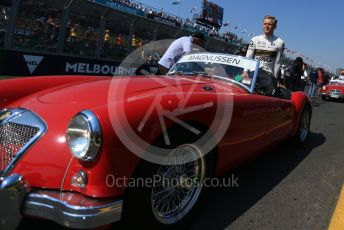 World © Octane Photographic Ltd. Formula 1 – Australian GP Drivers' parade. Rich Energy Haas F1 Team VF19 – Kevin Magnussen. Melbourne, Australia. Sunday 17th March 2019